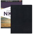 Bible NKJV Holman Study Black Genuine Leather Indexed