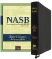 Bible NASB Side-Column Reference Black Genuine Leather
