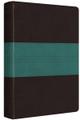 Bible ESV Personal Ref. Dark Brown/Teal Trail Design TruTone