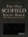Bible KJV Old Scofield Study Large Print Black Bonded Leather