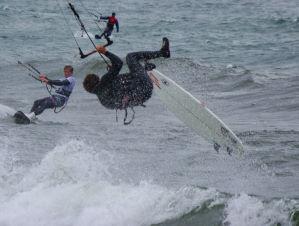 Crashing on a wave