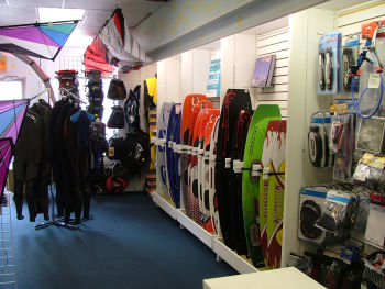Kiteboarding gear used to only take up a back corner of the shop