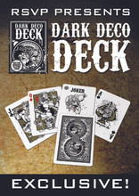 Dark Deco Deck USPCC  (Bicycle Playing Card Stock)