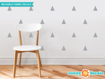 Triangle Fabric Wall Decals - Set of 32 Triangles - Sunny Decals