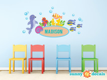 Under the Sea Custom Name Fabric Wall Decals - Sunny Decals