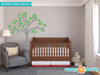 Beautiful Tree Fabric Wall Decal, Tree Wall Décor - Green - Sunny Decals