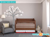Beautiful Tree Fabric Wall Decal, Tree Wall Décor - White - Sunny Decals