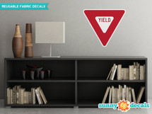Yield Sign Fabric Wall Decal - Sunny Decal