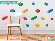 Building Block Bricks Fabric Wall Decals - Sunny Decals
