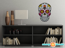 Sugar Skull Fabric Wall Decal - Day of the Dead Wall Decor - Diamond - Sunny Decals