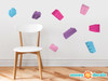 Projecting Building Block Bricks Fabric Wall Decals - Multi color girl - Sunny Decals