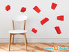 Projecting Building Block Bricks Fabric Wall Decals - Red - Sunny Decals