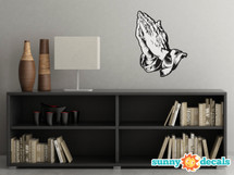 Praying Hands Fabric Wall Decals - Religious Spiritual Hands Wall Decor - Sunny Decals
