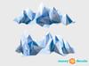 Geometric Mountain Fabric Wall Decal - Modern Mountain Range Wall Art - Detailed - Sunny Decals