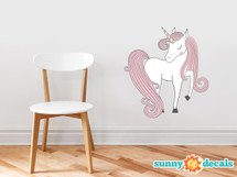 Unicorn Fabric Wall Decal - Hand Drawn Unicorn Magic Peel and Stick Wall Decor, Horse and Pegasus Decoration, Children's Room Nursery  - Sunny Decals