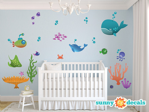 Under The Sea Wall Decals   Sunny Decals