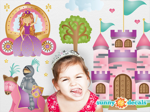 Princess Fabric Wall Decals   Two Size Options   Castle, Knight   Sunny  Decals Part 70