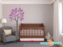 Modern Tree Wall Decal - Purple