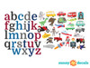 Alphabet Wall Decals for Boys - Detailed - Sunny Decals