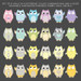 Owl Fabric Wall Decals - Variations - Sunny Decals