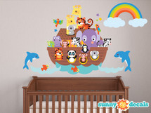 Noahs Ark Fabric Wall Decal - Sunny Decals