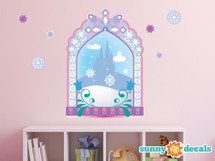 Frozen Inspired Ice Castle Window Fabric Wall Decal - Sunny Decals