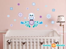 Snow Owl Fabric Wall Decals - Sunny Decals