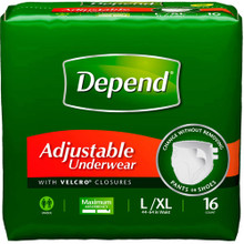 Depend Adjustable Maximum Absorbency Underwear