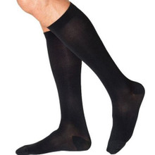 Sigvaris Soft Midtown Microfiber Socks for Men, Calf Length Closed Toe in Black