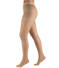 Truform Sheer Lite Compression Pantyhose for Women in Warm Beige