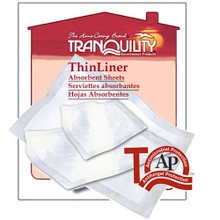 "Tranquility ThinLiner  7"" x 14"" Absorbent Sheets"