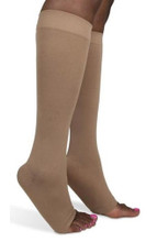 Sigvaris Open Toe Soft Opaque, Calf 15-20mmHg