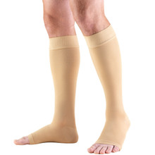 TruForm Knee High Compression Hose, 20-30mmHg Open Toe