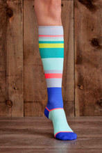 Lunatik Athletiks Urbane Stripe 15-22mmHg Compression Sock, Knee High