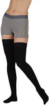 Juzo Naturally Sheer Full Foot Silicone Thigh High Stockings 30-40 mmHg