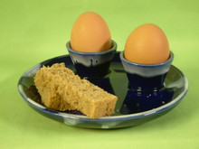 double egg cup / plate