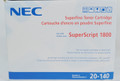 NEC Superscript 1800 Toner Cartridge 20-140, New Sealed OEM