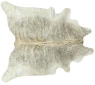 Grey Beige Exotic Cowhide