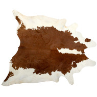 Brown & White Cowhide