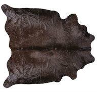 Chocolate Coloured Cowhide Rug