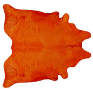 Tangarine Coloured Cowhide Rug