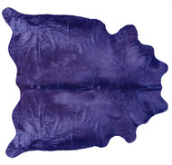 Lavendar Coloured Cowhide Rug