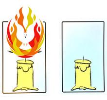Candle Cards Pentecost Gospel Magic Trick