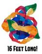 Silk Rainbow Streamer -  16 feet  x 4 inch - Astonishing length of silk to produce! God's promises