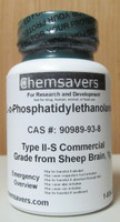 L-a-Phosphatidylethanolamine, Type II-S Commercial Grade, From Sheep Brain, Certified, 1g