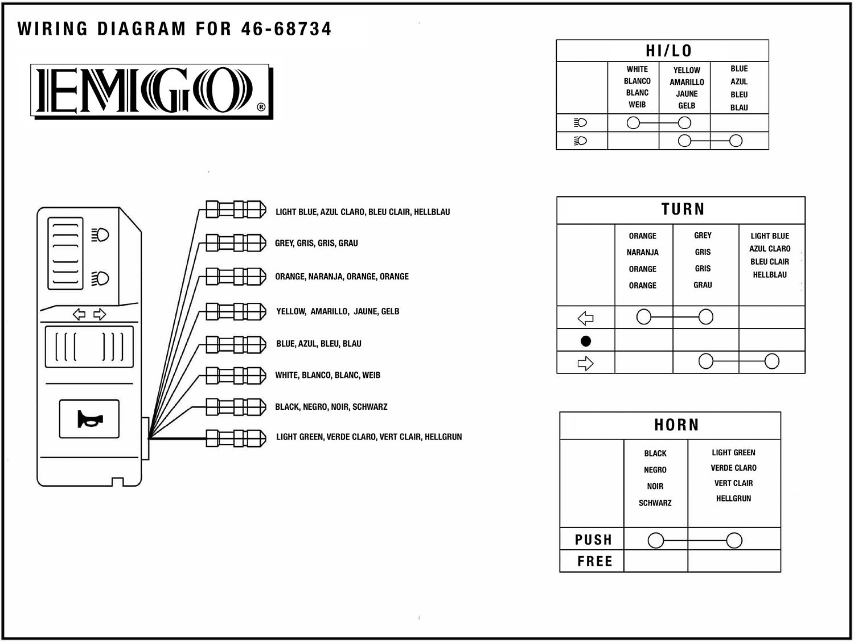 Emgo Universal Handlebar Multi Switch Left 4668734 Wiring