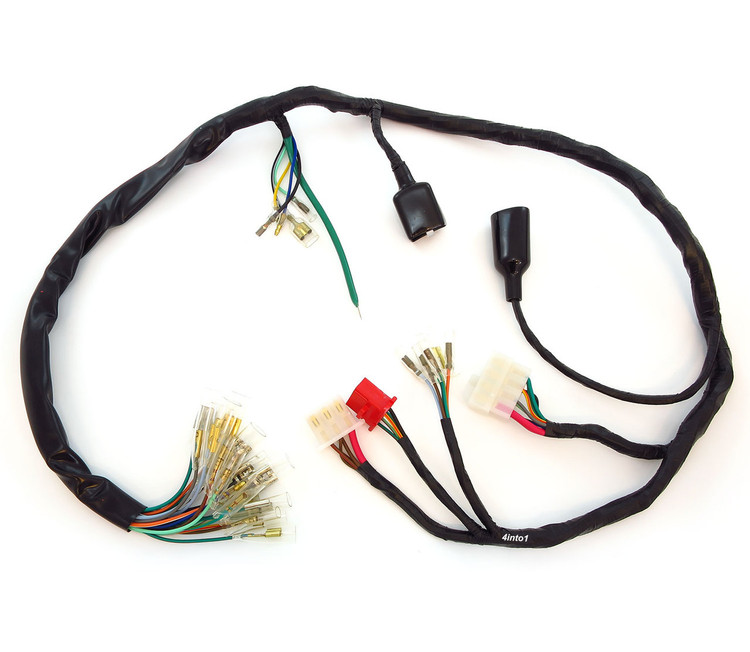 honda wiring harness loom 32100 374 000 CB550 CB550K 1974 1975 main__74205.1475341987.750.750?c=2 wire & fuses for vintage honda motorcycles Universal Wiring Harness Diagram at cos-gaming.co