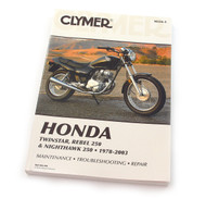 Clymer Manual - Honda Twinstar, Rebel 250 & Nighthawk 250 - 1978-2003