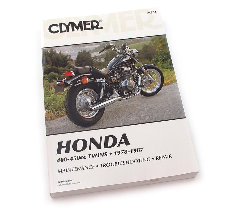 clymer manual honda 400 450cc twins 1978 1987 rh 4into1 com 1978 honda cb400 hawk owner's manual Honda CB400 Hawk