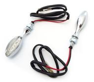 BikeMaster Torpedo LED Turn Signals - Chrome